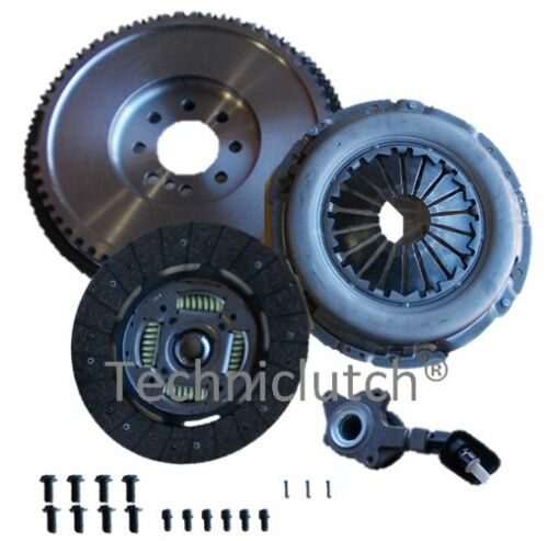 DUAL TO SOLID FLYWHEEL AND CLUTCH KIT CSC BOLTS FOR FORD MONDEO MKIII 2.0TDCI