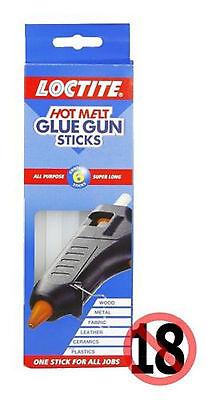 "Loctite Hot Melt Glue Gun Sticks All Purpose Super Long 11 x 200 mm 8"" Pack of 6"