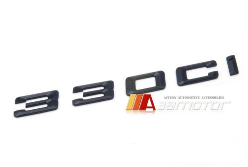 BMW E46 E92 Matte Black Trunk Lid Rear Emblem Badge Decal Letters 330Ci 330i