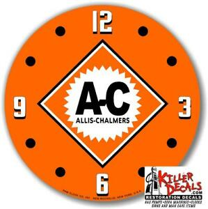 "*NEW* 15/"" AC ALLIS CHALMERS DIAMOND GLASS replacement clock FACE FOR PAM"
