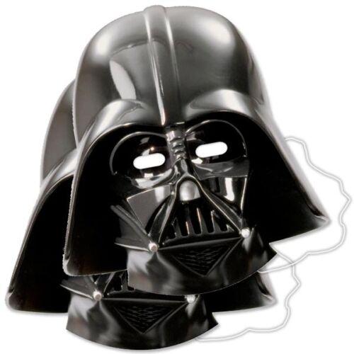23,5cm x 25cm Star Wars Partymasken im 6er Pack