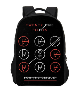 fd8e6672e59 Image is loading Twenty-One-Pilots-musical-duo-Backpack-Blurryface-School-