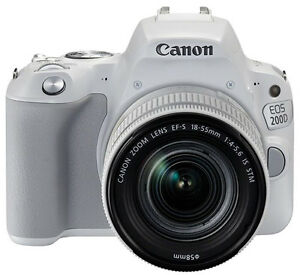Details about Canon EOS 200D Rebel SL2 24 2 MP Camera 18-55mm IS STM lens  (White) Exp Ship