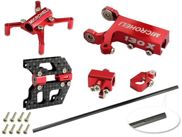 nuovo Microheli Tail Boom  Round combo rosso MH Frame series Blade 130X gratuito US SHIP  nuovo di marca