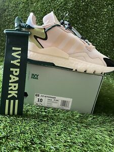 Details about Adidas Ivy Park Nite Jogger Sneakers, Off White/Dark Green - Size 10M S29038