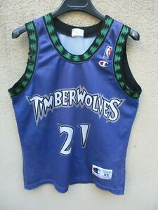 Maillot-basket-MINNESOTA-TIMBERWOLVES-Kevin-GARNETT-21-NBA-CHAMPION-USA-XS