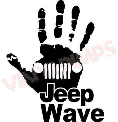 Jeep Wave Buy any 2 get 1 free Vinyl Graphic Decal Sticker