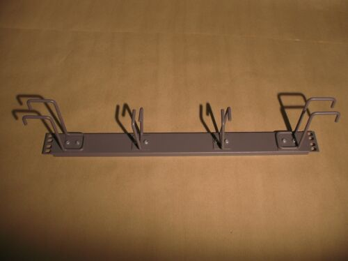 1U Cable Management Rail Hooks Serve Telecoms Network Rack Grey