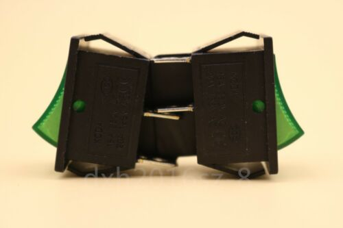 20Pcs Rocker Switch With Green Light KCD4-201N 4 Pin ON//OFF 16A//250V