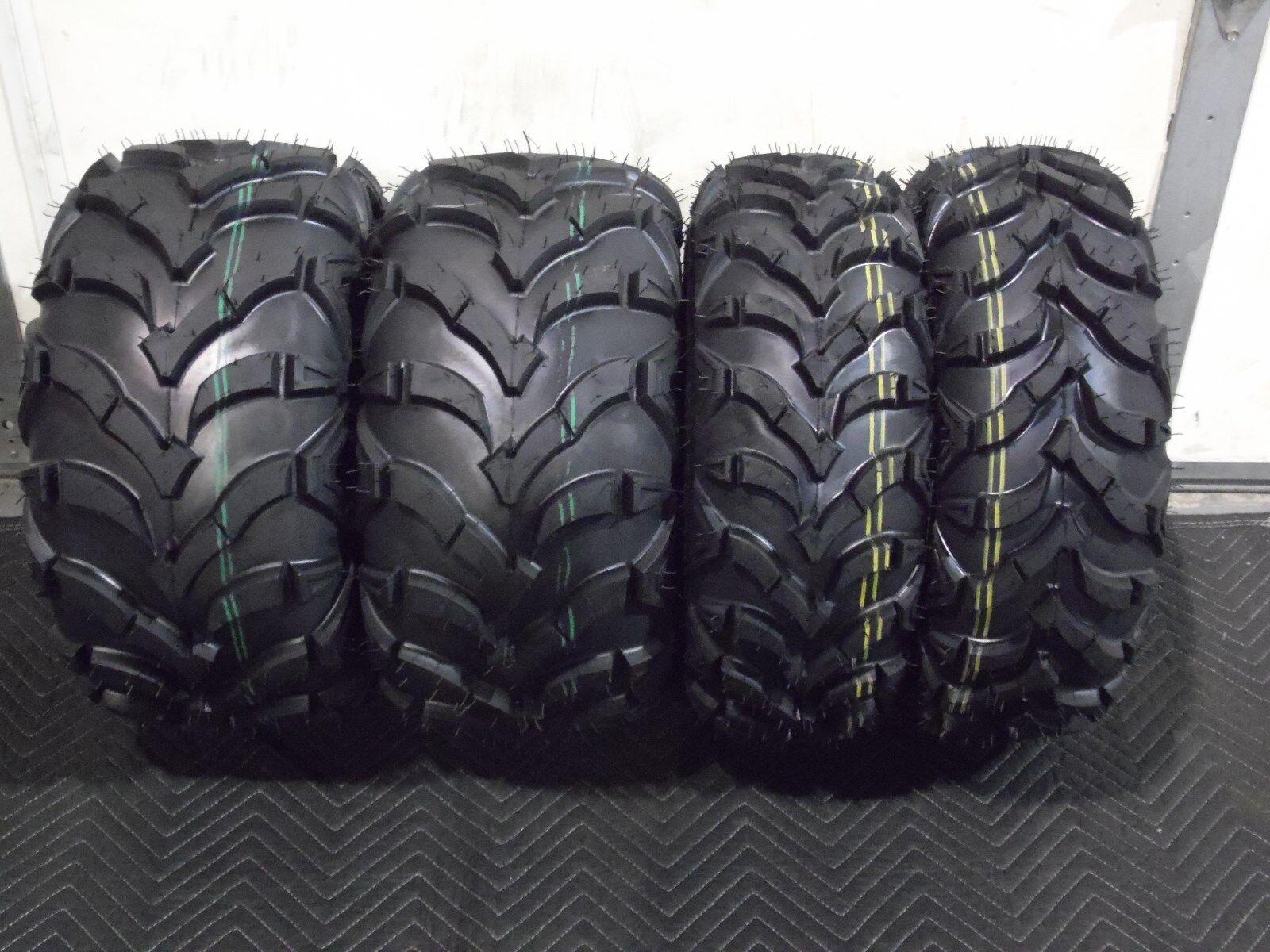 suzuki ozark atv tires complete set 4 tires 22x7 11 22x10 9 quadking 6 ply ebay. Black Bedroom Furniture Sets. Home Design Ideas