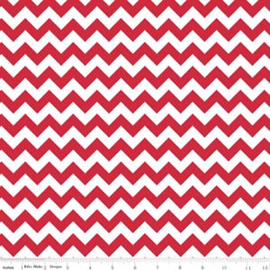 Riley-Blake-Red-Chevron-Geometric-Stripes-Novelty-Fabric-FQ-5-Metre