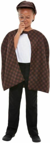 Boy/'s Sherlock Holmes Detective Fancy Dress Kit Kids Party Investigator Day Fun