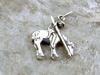 Sterling Silver end Of The Trail Charm -1329