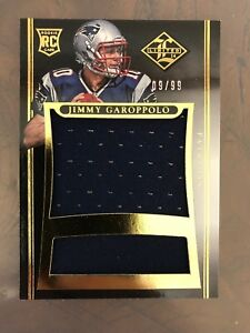 hot sales 5d35e 9c783 Jimmy Garoppolo 2014 Limited Rookie Jumbo Jersey #d 9/99 ...