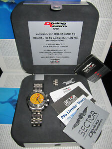 VINTAGE-SECTOR-DIVING-TEAM-ZAFIRO-TITANIO-1000m-Crono-Automatic-7750-Swiss-Made