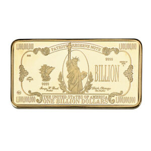 WR-USA-1-Billion-Dollar-24K-Gold-Gilded-Bar-Bank-Note-Ingot-Bullion-Art-In-Case