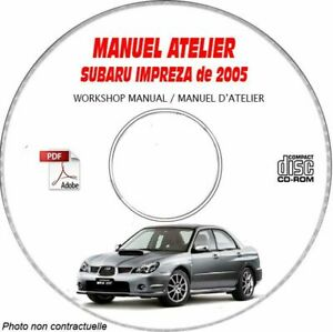 IMPREZA 05 - Manuel Atelier CDROM SUBARU Anglais Expédition - --, Support - CD-