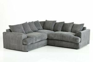 Details about ** BRAND NEW** Modern Grey Black Corner Sofa Cheap LEFT &  RIGHT 3 AND 2