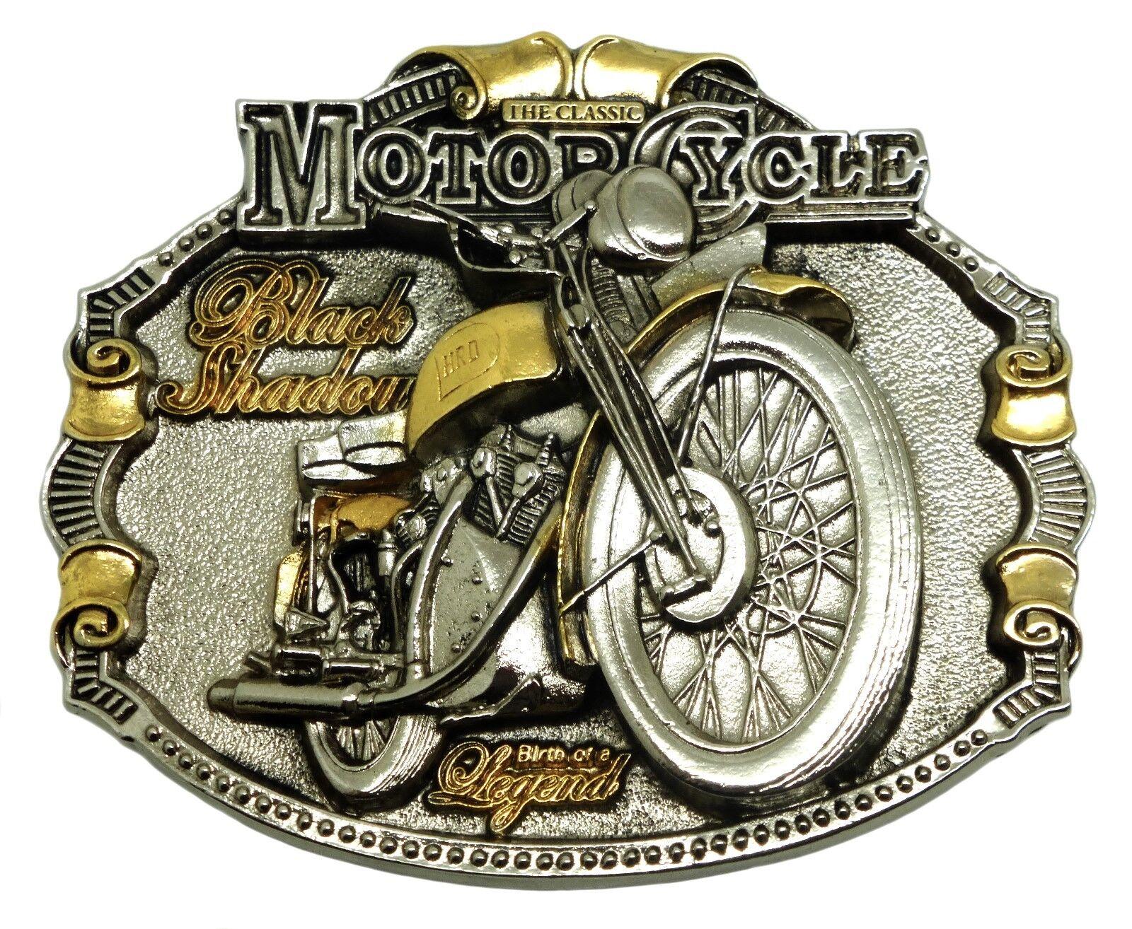HRD Vincent Belt Buckle 24ct GOLD Biker Classic Motorcycle Authentic Licensed