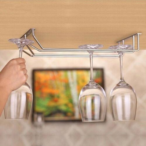1 × Weinglashalter Hängegestell Aufbewahrungsschrank Bar Home Decor Schrank