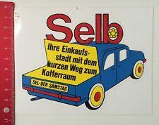 Aufkleber/Sticker: Selb - Einkaufsstadt Mit Kurzen Weg Zum Kofferraum (10051670)