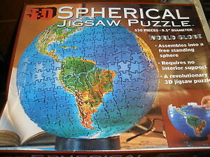 Buffalo games spherical jigsaw puzzle 3d world globe ebay image is loading buffalo games spherical jigsaw puzzle 3d world globe gumiabroncs Image collections