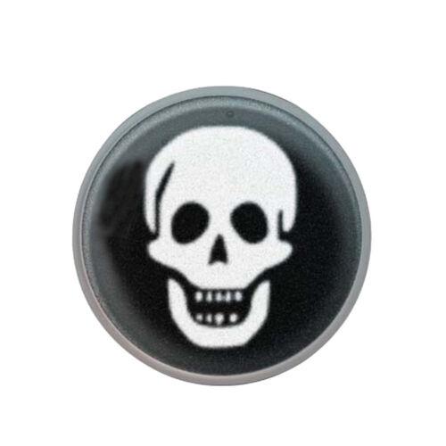 1 Paar STUDEX medizinische Ohrstecker Totenkopf Skull 4mm 7512-0657 Stecker weiß