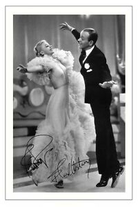 FRED ASTAIRE AND GINGER ROGERS SIGNED PHOTO PRINT AUTOGRAPH