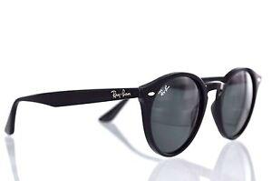 Ray-Ban Round RB2180 601 71 Black Green Classic Sunglasses 49mm Non ... 42d8e95475