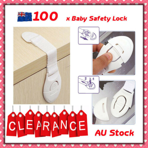 BULK 100pcs xChild Adhesive Kid Baby Safety Drawer Door Lock