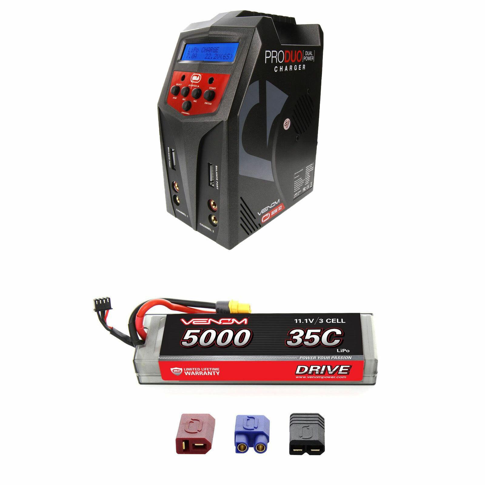 Venom 35C 3S 11.1v 5000mAh Batería LiPo Hardcase y Pro Duo Cargador Combo