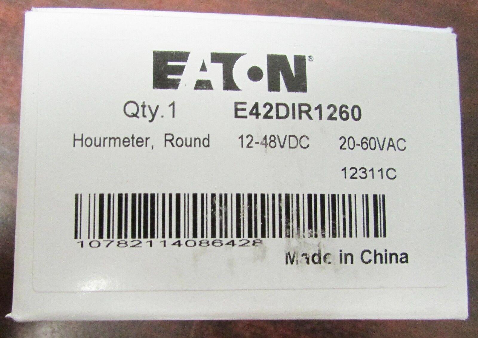 EATON E42DIR1260 CURTIS 53017 12-48VDC 20-60VAC Hourmeter Timer 12311C