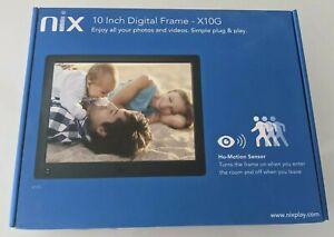 Nix-10-Inch-Digital-Photo-Frame-X10G-HuMotion-Sensor-Digital-Picture-Frame-NIB