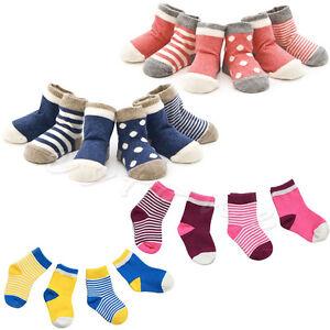 4 Pairs/Set Baby Lovel Newborn Infant Toddler Kids Soft Cotton Socks 0-3 Years