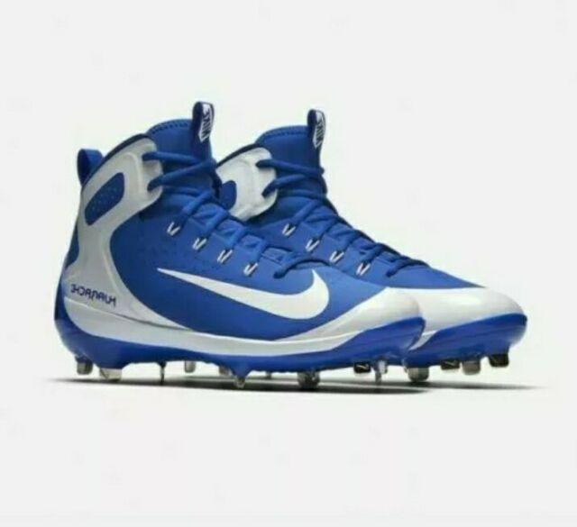 Nike Mens Alpha Huarache Elite Mid Blue