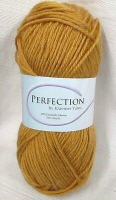 PERFECTION by Kraemer Yarns~ GOLD DUST~ #Y1529~Lot #16033 ~ Worsted ~NEW