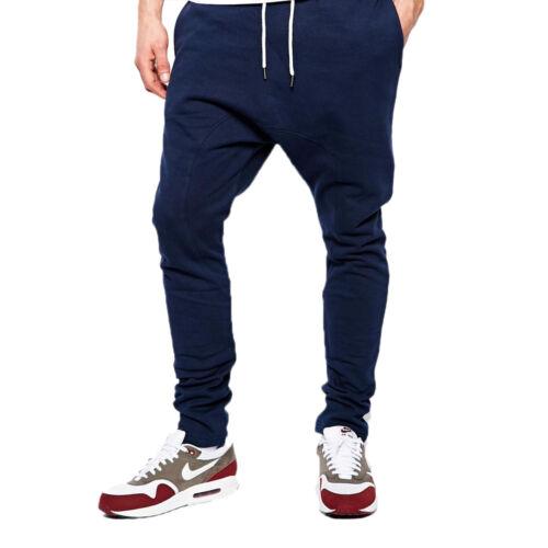 Homme Active Wear d/'Entrejambe Tombant Pantalon de survêtement Survêtement Pantalon Slim Pantalon Gym Pantalon UK