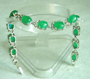100/% Natural green jade inlay gold-plated chain bracelet