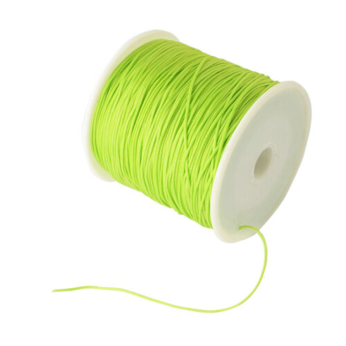 1 Rouleau Tressé Nylon Cordon imitation soie String Thread 0.8 mm sur 100 Yd //rouleau environ 91.44 m