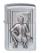 ZIPPO Feuerzeug Smoking Woman Emblem Sexy Frau  NEU in Deutschland PORTOFREI
