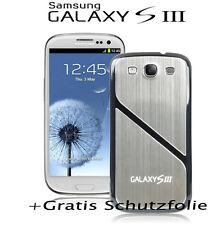Samsung Galaxy S3 i9300 Akku Deckel Aluminium Cover Case Bumper Neu +Schutzfolie