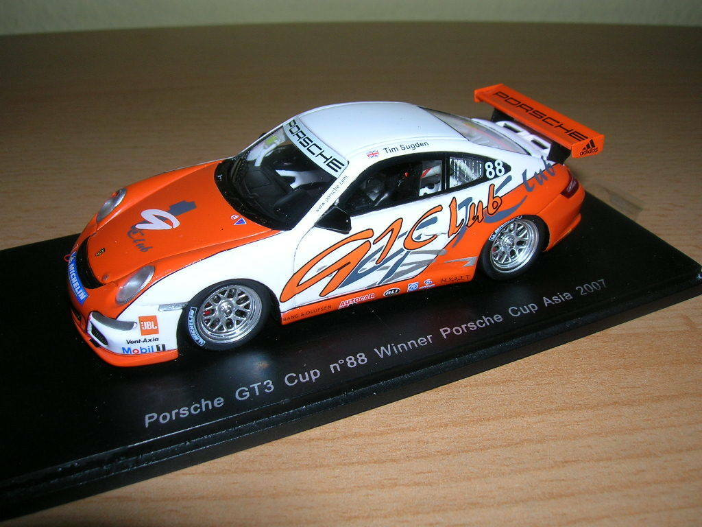 Spark Porsche GT3 Cup Winner Posche Cup Asia Sugden 2007 S1906 1 43