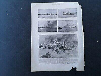 RüCksichtsvoll 1900...zeitungsdruck 1 Amerika Norddeutsche Lloyd Feuer Docks New York Usa SchöNe Lustre