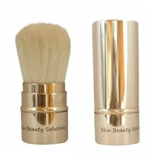 Retractable Kabuki Blush Foundation Powder Bronzer Makeup Brush Golden-Goat Hair