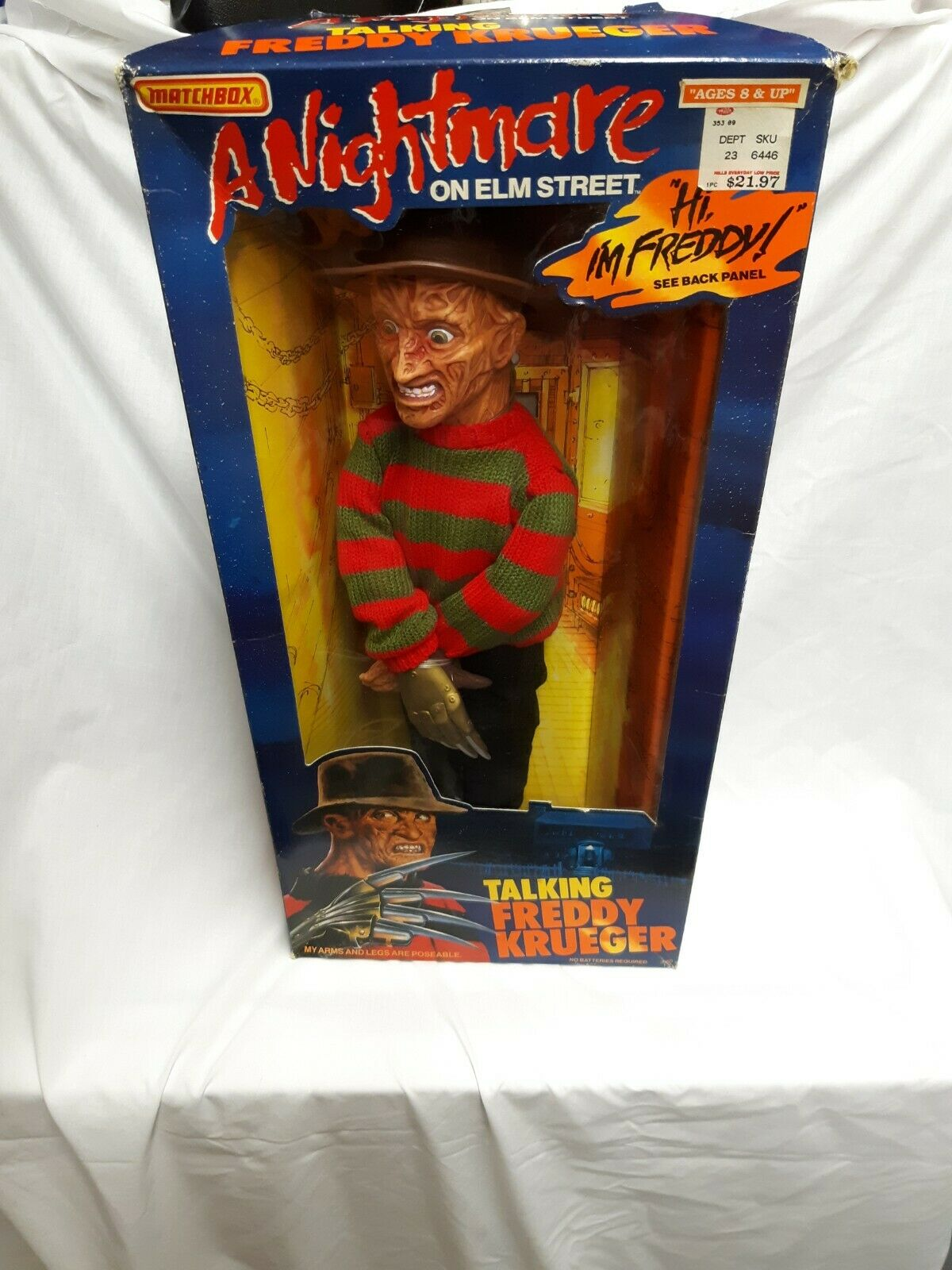 Vintage Matchbox A Nightmare On Elm Street Talking Frotdy Krueger Action Figure