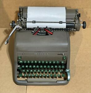 Vintage Royal Typewriter with Touch Control 1950?? Nu-Kote
