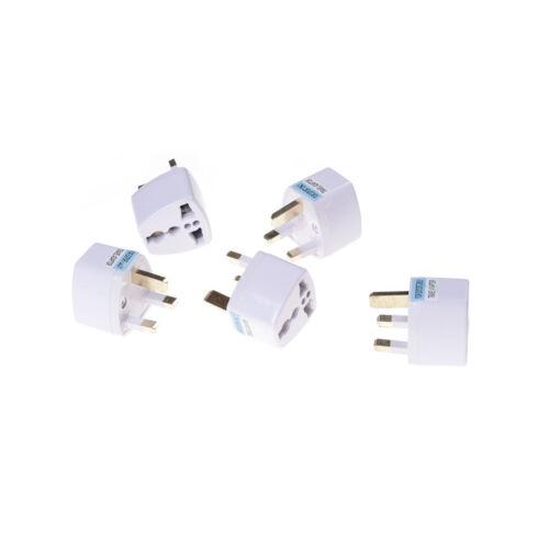 2pcs UE US UA to UK AC prise de courant adaptateur chargeur de voy FR SPF~