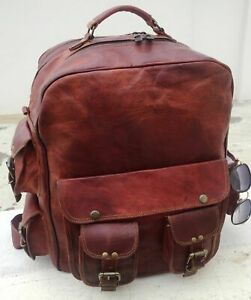 New-Large-Men-039-s-Leather-Backpack-Bags-Shoulder-Briefcase-Rucksack-Laptop-Bag