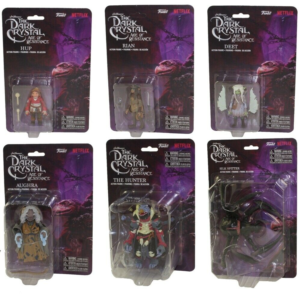 Funko Wirkung Figures - The Dark Crystal - SET OF 6 (Rian, Deet, Hup, Aughra +2)