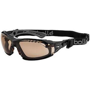 Bolle-Rush-Plus-Safety-Glasses-Black-Temples-Twilight-Anti-Fog-Lens-w-Strap